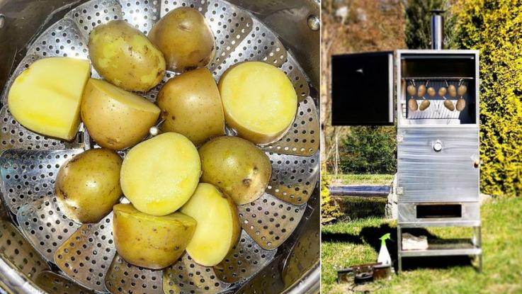 brambory v pare a v udirne